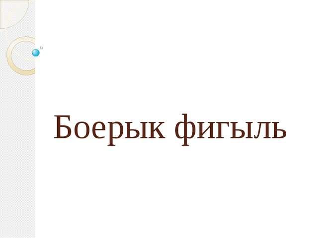 Боерык фигыль