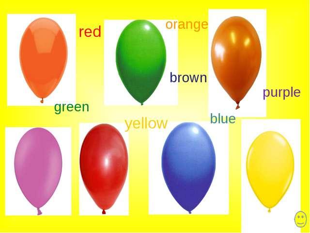 blue yellow orange red brown purple green