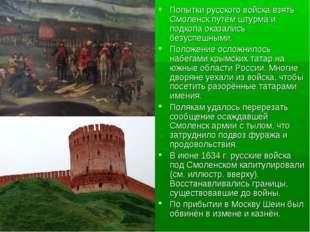 Попытки русского войска взять Смоленск путём штурма и подкопа оказались безус