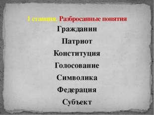 Гражданин Патриот Конституция Голосование Символика Федерация Субъект 1 станц