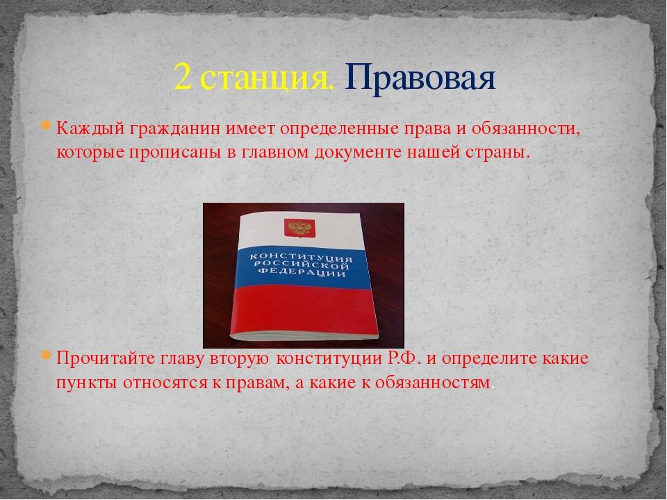 Каждый гражданин имеет определенные права и обязанности, которые прописаны в...