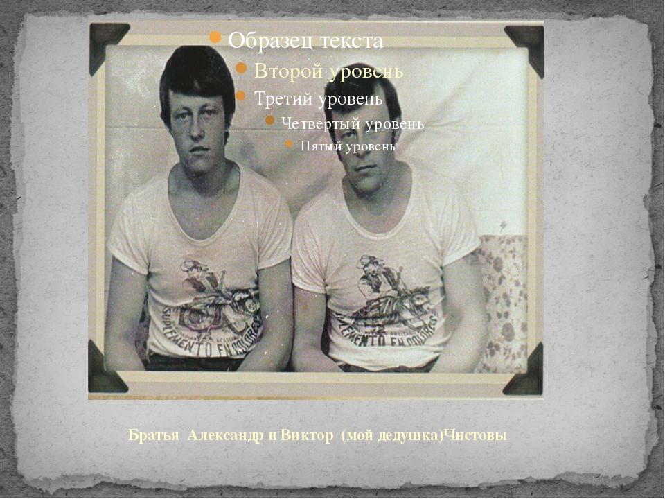Братья Александр и Виктор (мой дедушка)Чистовы