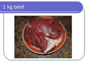 1 kg beef