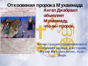 Откровения пророка Мухаммада Иллюстрация средневекового «Собрания хроник и и
