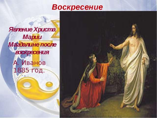 А. Иванов (1835) Воскресение Христа Явление Христа Марии Магдалине после вос...