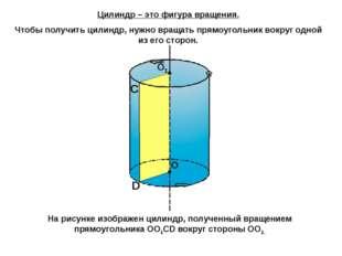 С D Цилиндр – это фигура вращения. Чтобы получить цилиндр, нужно вращать прям