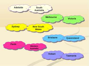 Hobart Perth Adelaide Victoria Melbourne Sydney New South Wales South Austral
