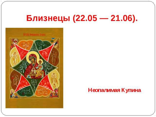 Близнецы(22.05 — 21.06). Неопалимая Купина