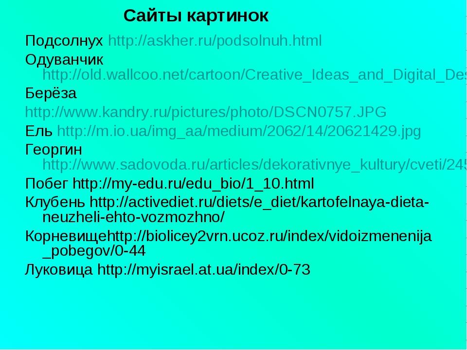 Подсолнух http://askher.ru/podsolnuh.html Одуванчикhttp://old.wallcoo.net/car...