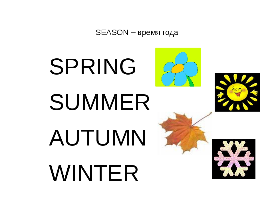 SEASON – время года SPRING SUMMER AUTUMN WINTER