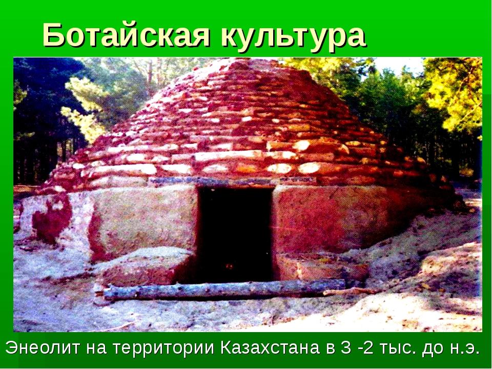 Ботайская культура Энеолит на территории Казахстана в 3 -2 тыс. до н.э.