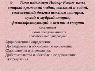 5/Тихо вздыхает Надыр-Рагим-оглы, старый крымский чабан, высокий и седой, со