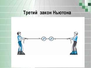 Третий закон Ньютона Позволю напомнить, что компонент состоит из трех подкомп