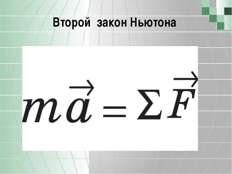 Второй закон Ньютона  Позволю напомнить, что компонент состоит из трех подко...