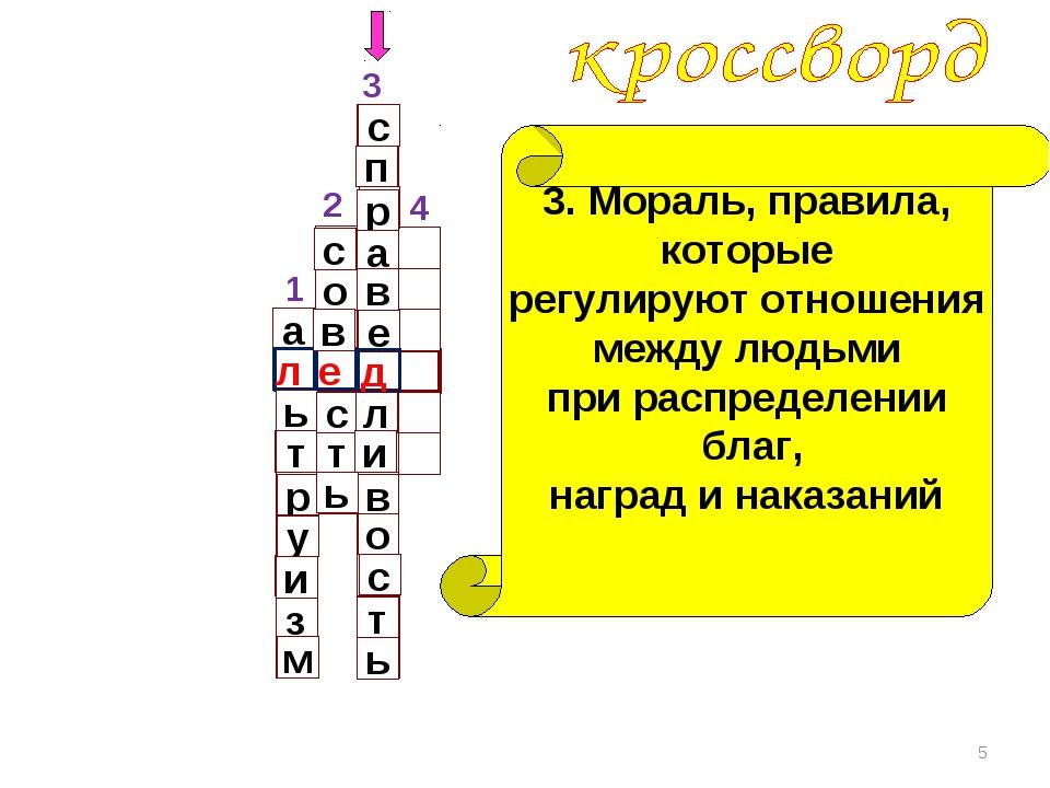 1 3 4 * 2 а л ь т р у и з м 3. Мораль, правила, которые регулируют отношения...