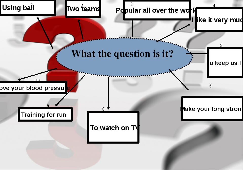What the question is it? Using ball Two teams Popular all over the world I li...