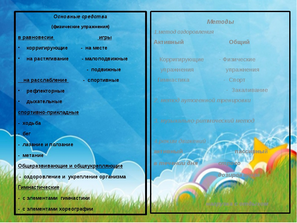 Основные средства (физические упражнения) в равновесии игры корригирующие - н...