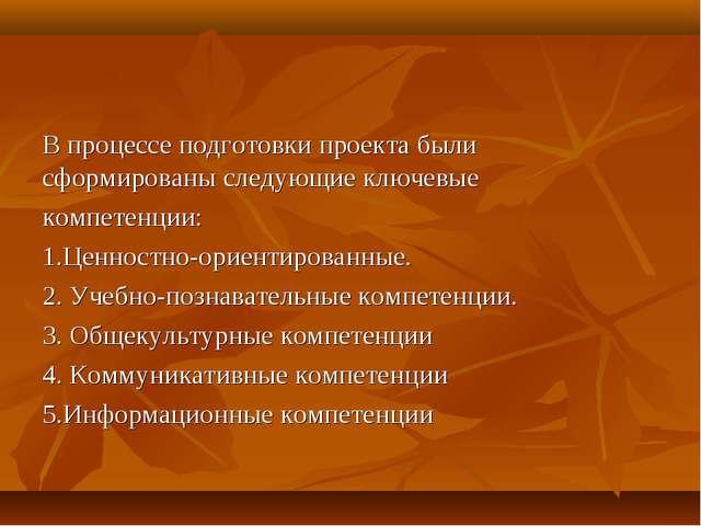 В процессе подготовки проекта были сформированы следующие ключевые компетенци...