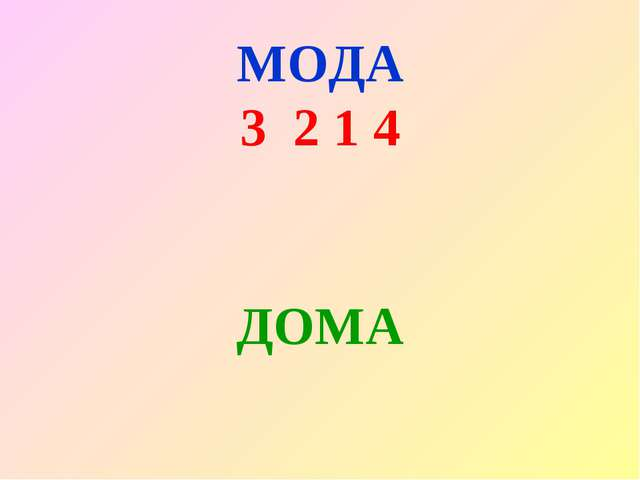 МОДА 3 2 1 4 ДОМА