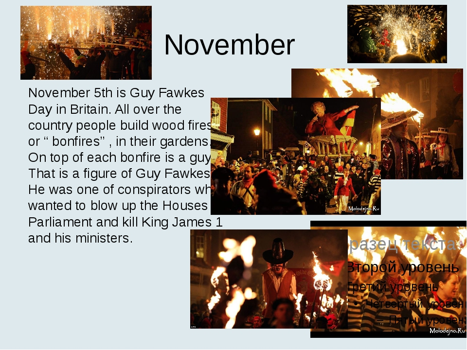 November November 5th is Guy Fawkes Day in Britain. All over the country peop...