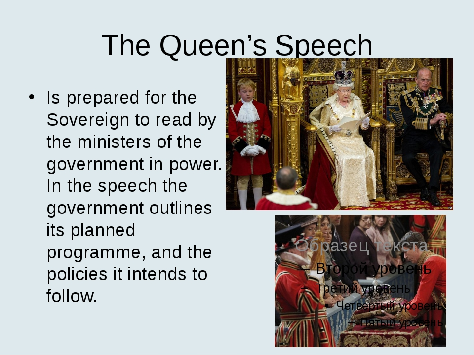 The Queen's Speech Is prepared for the Sovereign to read by the ministers of...