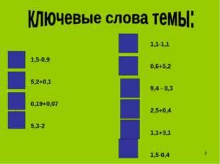 1,5-0,9 5,2+0,1 0,19+0,07 5,3-2 а н к з в т с м е е 1,1-1,1 0,6+5,2 9,4 - 0,
