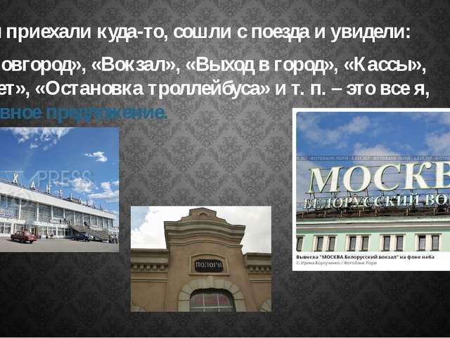 Вы приехали куда-то, сошли с поезда и увидели: «Н. Новгород», «Вокзал», «Вых...