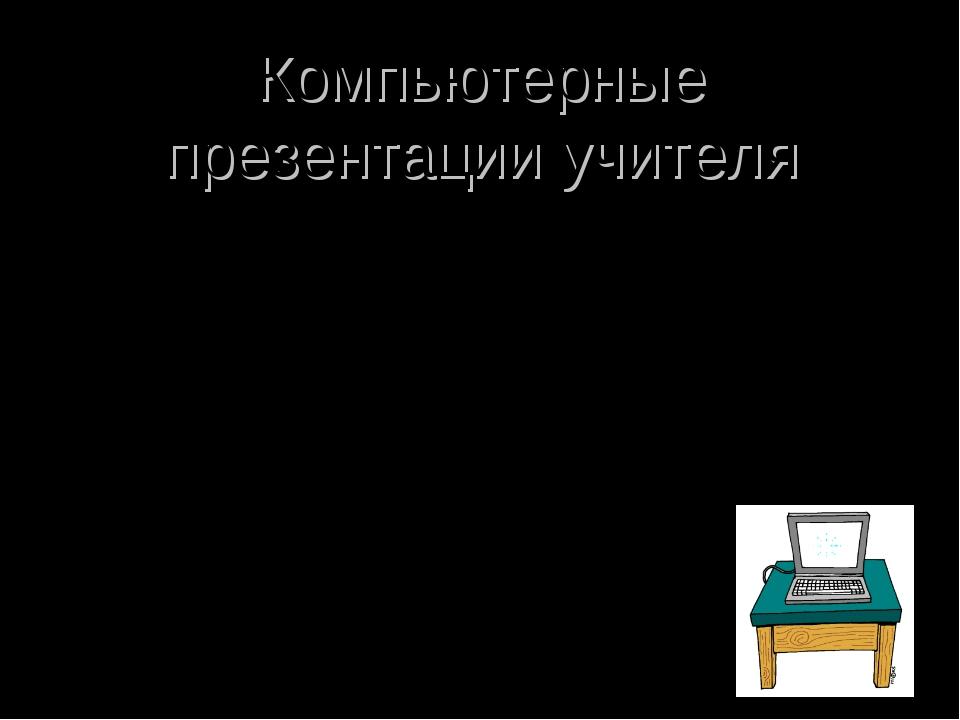 Компьютерные презентации учителя *