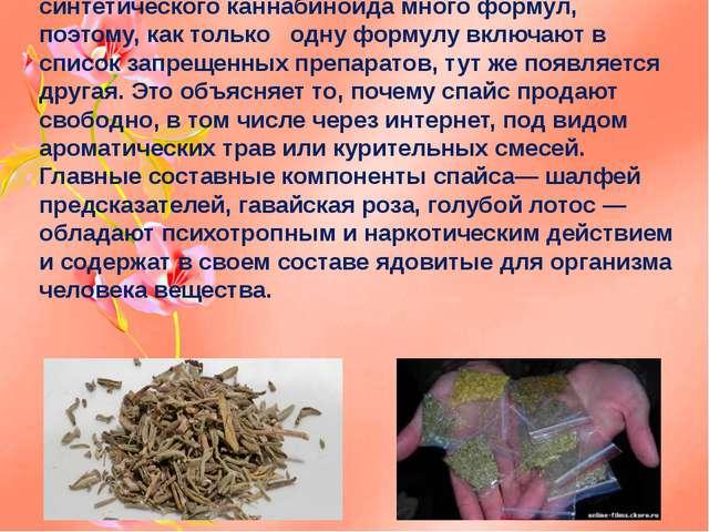 Спайс (Spice) – это любое высушенное растение пропитанное синтетическим канна...