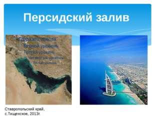 Ставропольский край, с.Тищенское, 2013г. Персидский залив