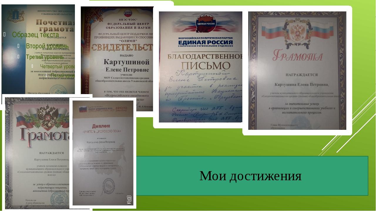 Мои достижения
