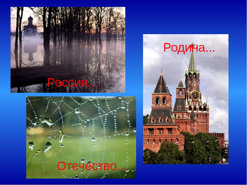 Россия... Отечество... Родина...