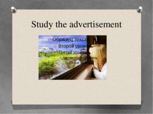 Study the advertisement