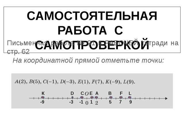 САМОСТОЯТЕЛЬНАЯ РАБОТА С САМОПРОВЕРКОЙ Письменная работа № 91 в РАБОЧЕЙ тетра...