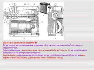 Машина для измельчения мяса МИМ-82 Внутри корпуса находится машинное отделени