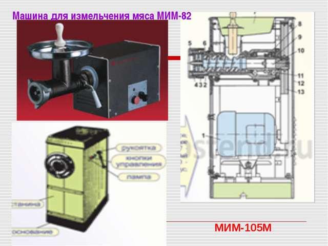 Машина для измельчения мяса МИМ-82 МИМ-105М