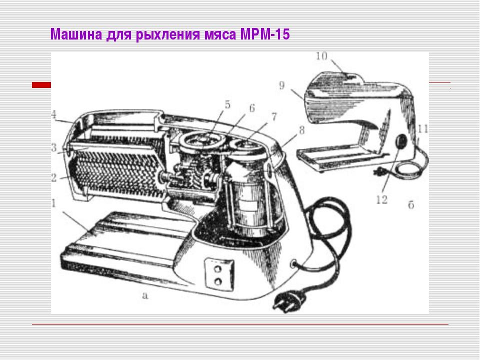 Машина для рыхления мяса МРМ-15
