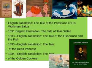 English translation: The Tale of the Priest and of His Workman Balda 1831 En