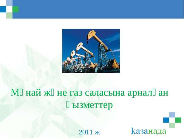 Мұнай және газ саласына арналған қызметтер 2011 ж