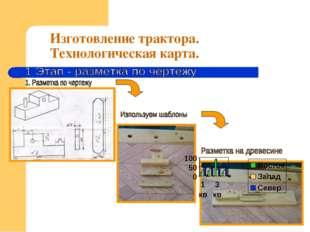 Изготовление трактора. Технологическая карта.