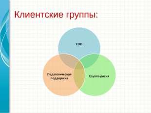 Клиентские группы: