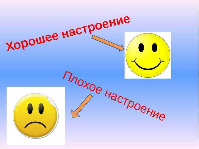 Плохое настроение Хорошее настроение