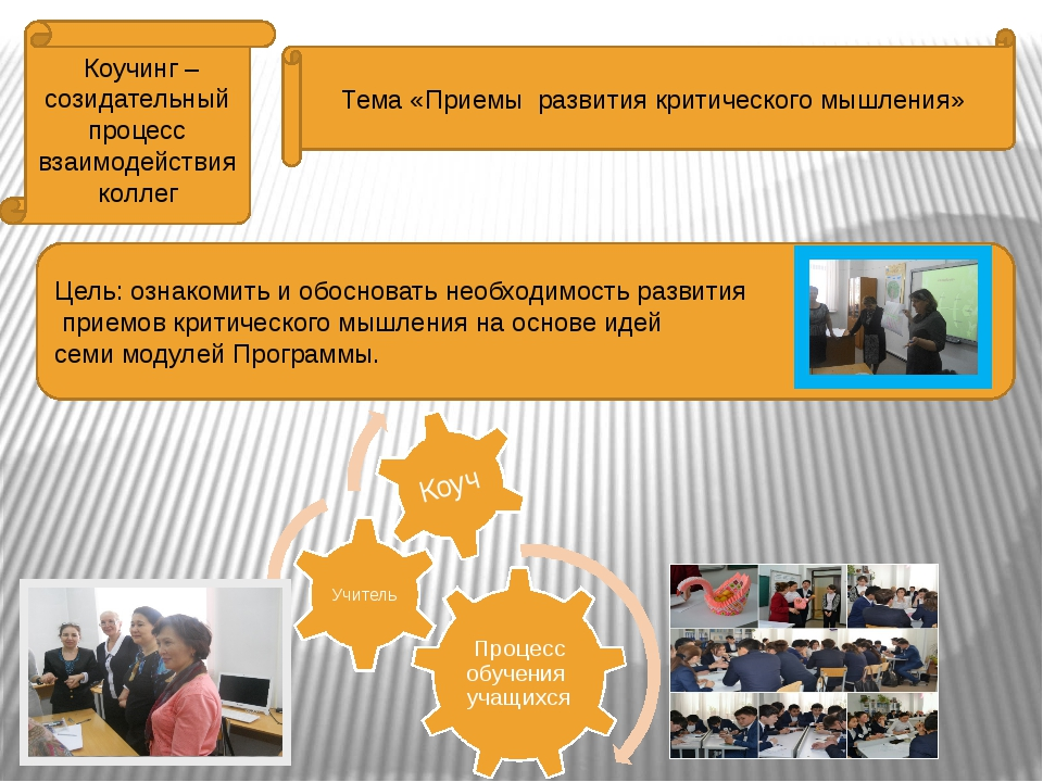 Коучинг – созидательный процесс взаимодействия коллег Тема «Приемы развития...