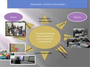 Оценивание успешности менторинга Совершенствование в преподавании на основе