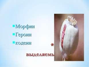 Морфин Героин кодеин