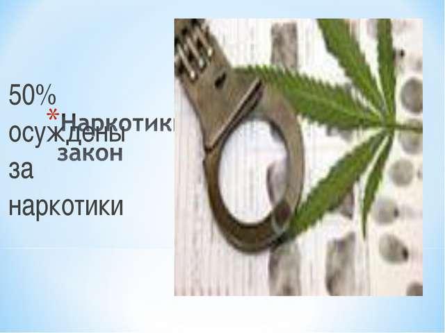 50% осуждены за наркотики