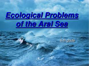 Ecological Problems of the Aral Sea 8-th grade