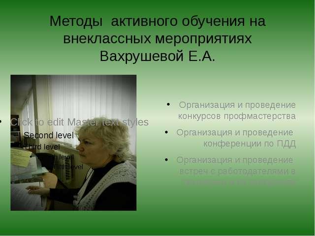 Методы активного обучения на внеклассных мероприятиях Вахрушевой Е.А. Организ...