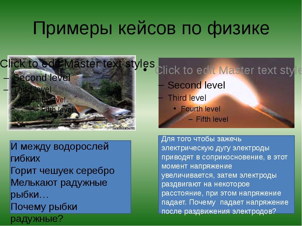Примеры кейсов по физике И между водорослей гибких Горит чешуек серебро Мель...