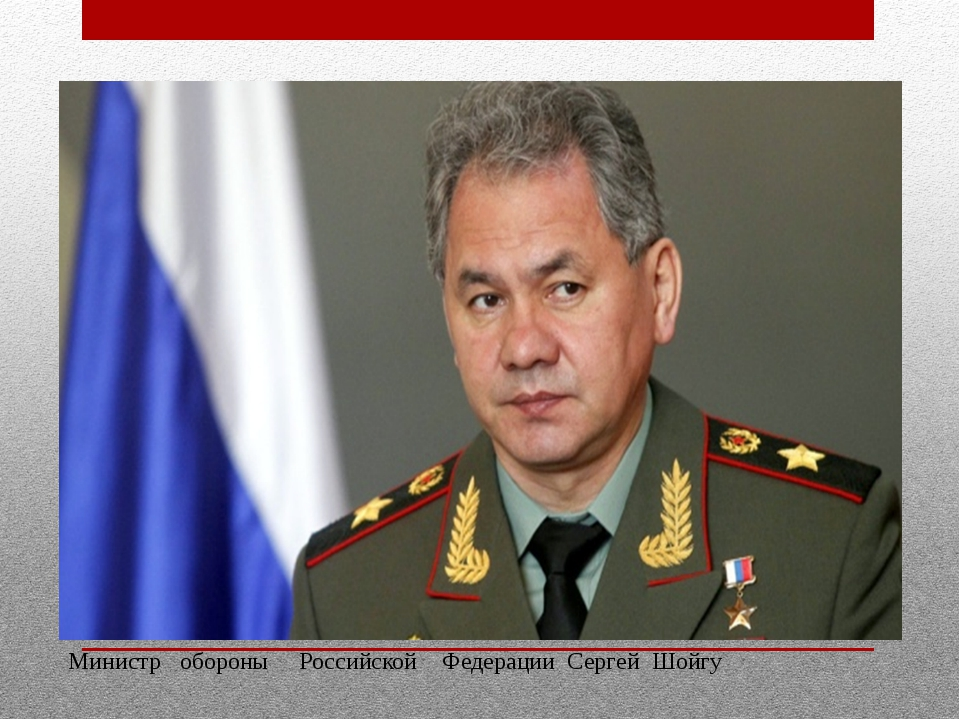 Министр обороны Российской Федерации Сергей Шойгу
